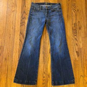 7 seven for all mankind dojo jeans wide leg flare